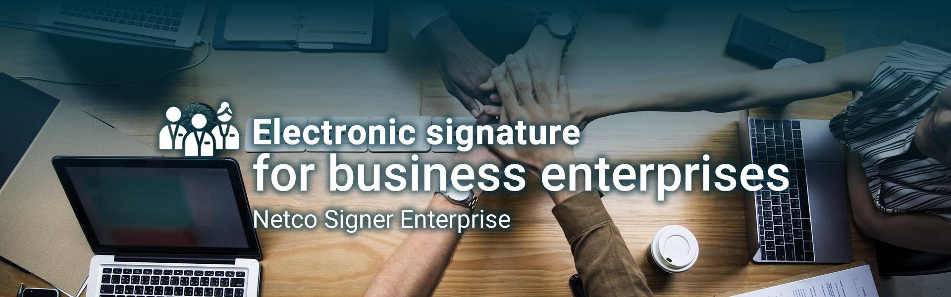 Electronic signature for business enterprise